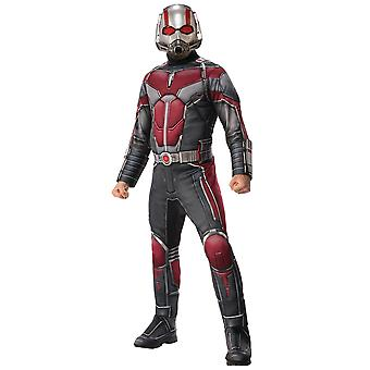 Ant-Man Ant Man Deluxe Muscle Marvel Avengers Supereroe Mens Costume