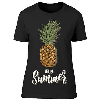 Summer Pineapple Quote Tee Women's -Image by Shutterstock
