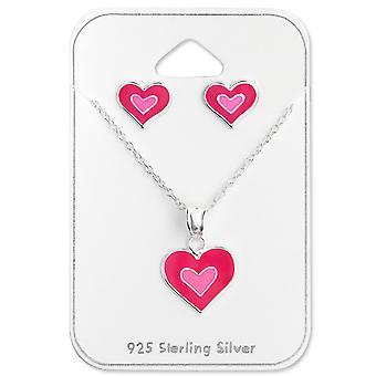 القلب - 925 مجموعات الفضة الاسترليني - W28978x