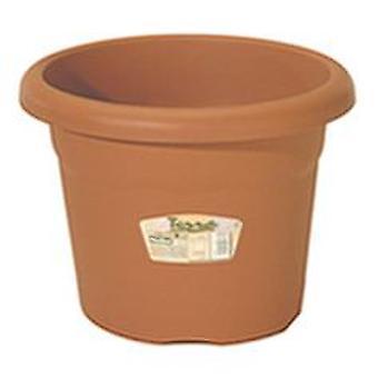 Plastiken Terrakotta-Topf (Garten , Gartenarbeit , Blumentöpfe und Kübel)