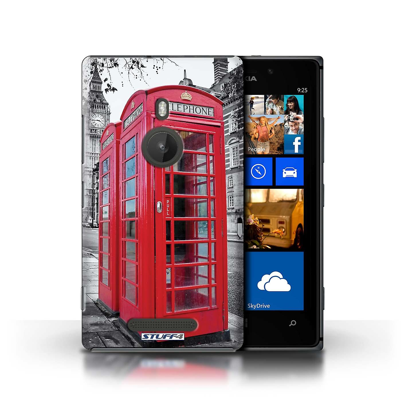 STUFF4 Case/Cover for Nokia Lumia 925/Red Phone Box/London England