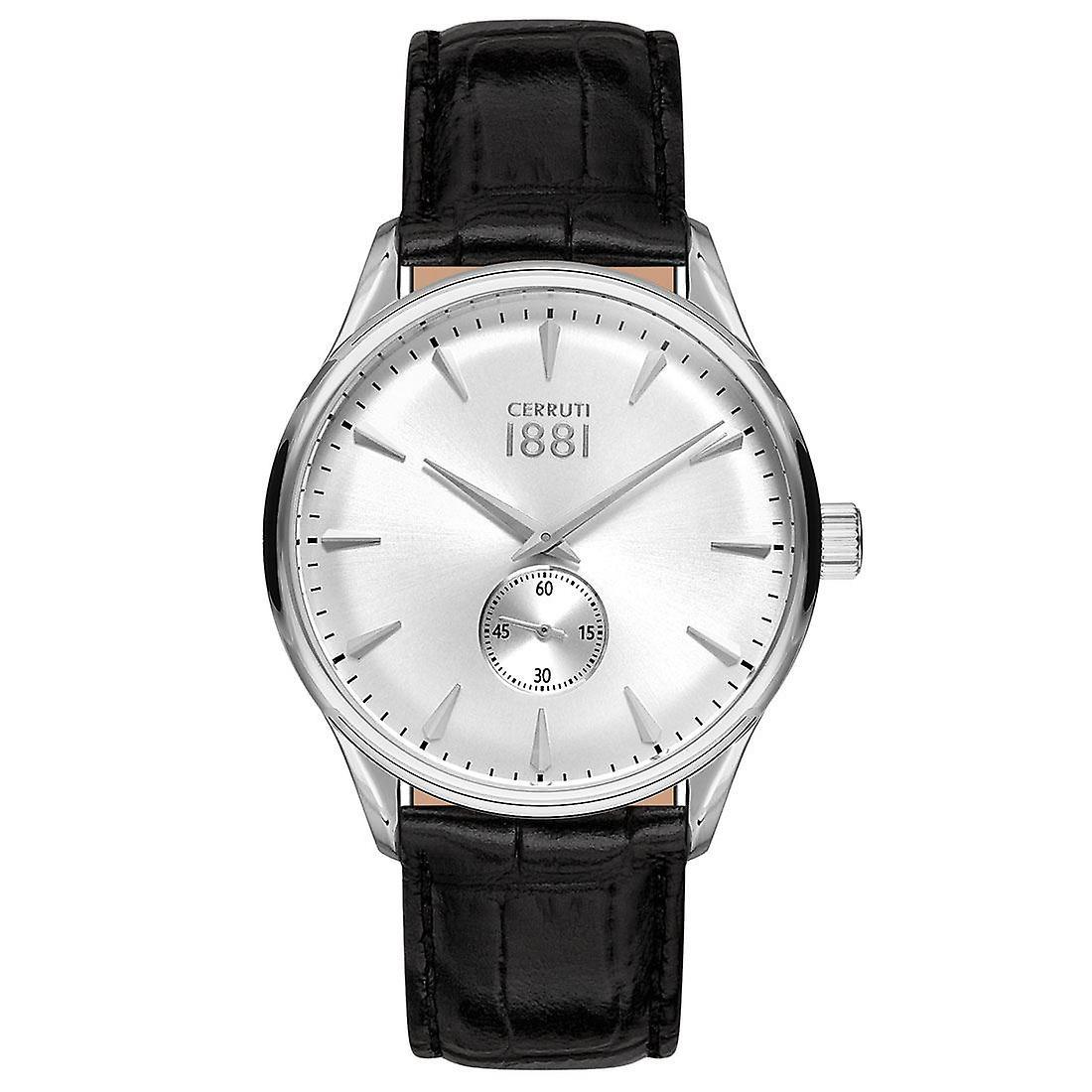 Cerruti 1881 Mens Gents Noir et Argent Designer Wrist Watch CRA24005
