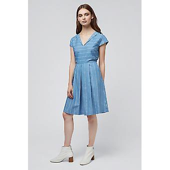 Louche Cherish Stripe Dress Chambray