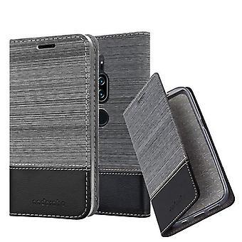 Cadorabo Hülle für Sony Xperia XZ2 PREMIUM hülle case cover - Handyhülle mit Magnetverschluss, Standfunktion und Kartenfach – Case Cover Schutzhülle Etui Tasche Book Klapp Style