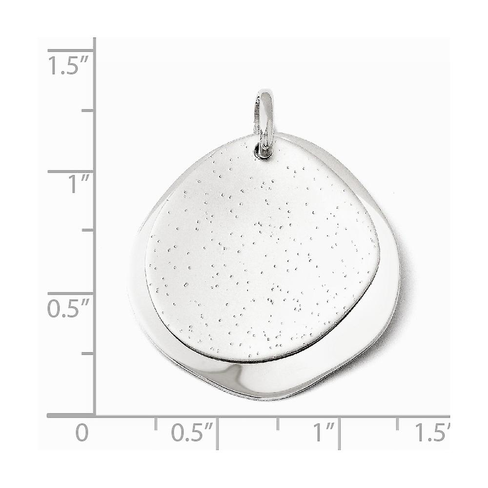 925 Sterling Silver Polished Rhodium plated Radiant Essence Pendant Necklace Jewelry Gifts for Women