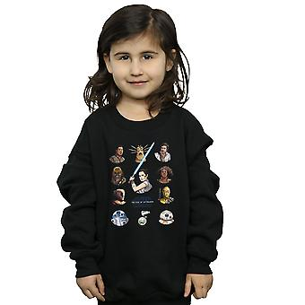Star Wars The Rise Of Skywalker Resistance Character Line Up Girls Sweatshirt