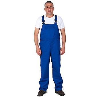 Portwest basic bib and brace work overalls - blue
