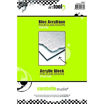 Carabelle Studio Acrylic Block for Clear Stamps, Transparent, A5