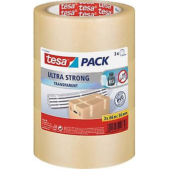 tesa 51124-07-01 Förpackningstejp tesapack® Ultra Strong Transparent (L x W) 66 m x 50 mm 3 st