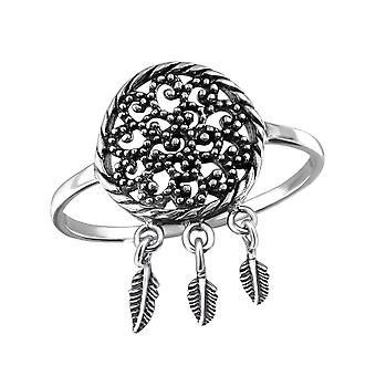 Flower - 925 Sterling Silver Plain Rings - W31367x