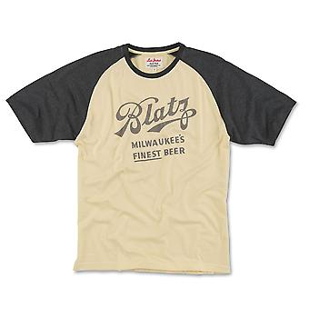 Μπλατζ μπύρα κοντό μανίκι ρεγκλάν πουκάμισο