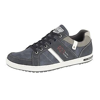 Route 21 Mens Denim Original Lace Up Casual Trainers