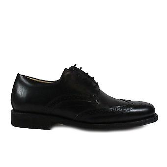 Anatomic Manaus Black Leather Mens Lace Up Brogue Shoes