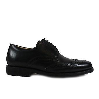 Ανατομικό Μανάους μαύρο δέρμα Mens Lace μέχρι προφορά παπούτσια