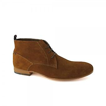 Paolo Vandini Raven Mens Suede Leather Chukka Boots Rust