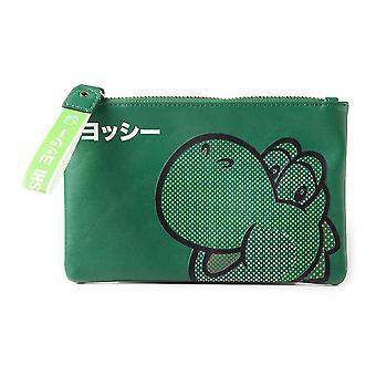 Super Mario Bros. gummi Yoshi ansikt veske lommebok kvinner grønn (GW552306NTN)