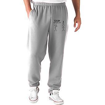 Grey tracksuit pants trk0554 stop rest