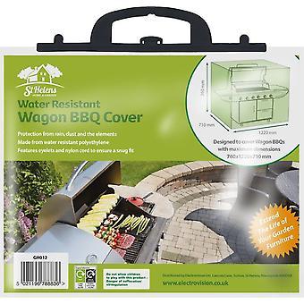 Aidapt buitenkeuken/bbq beschermhoes waterdicht - groen