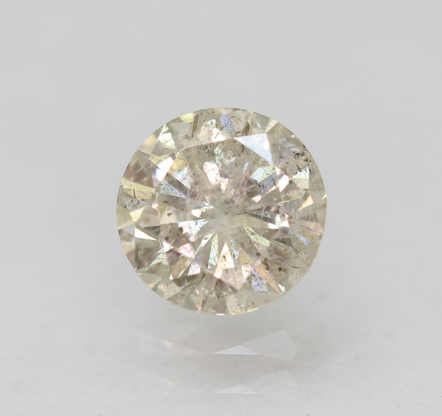 Cert 0.63 Carat TL Brown SI2 Round Brilliant Enhanced Natural Diamond 5.47mm
