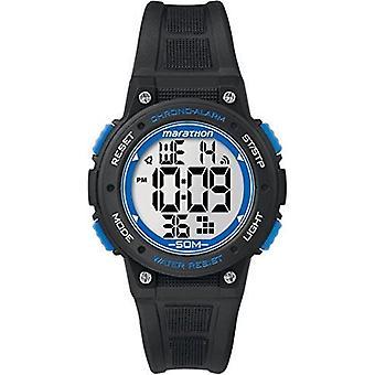 Zegarek Timex Ironman Unisex kwarc + LCD cyferblat cyfrowy wyświetlacz czarny żywica pasek (TW5K84800)