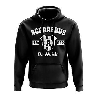 AGF Aarhus etableret fodbold hoody (sort)