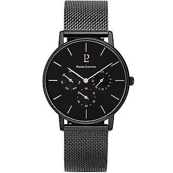 Watch Pierre Lannier CITYLINE 209F438 - steel Black Dial Bracelet steel black man black case