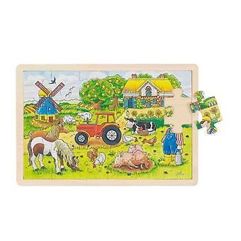 Goki Fenster Puzzle Farm 24Pcs