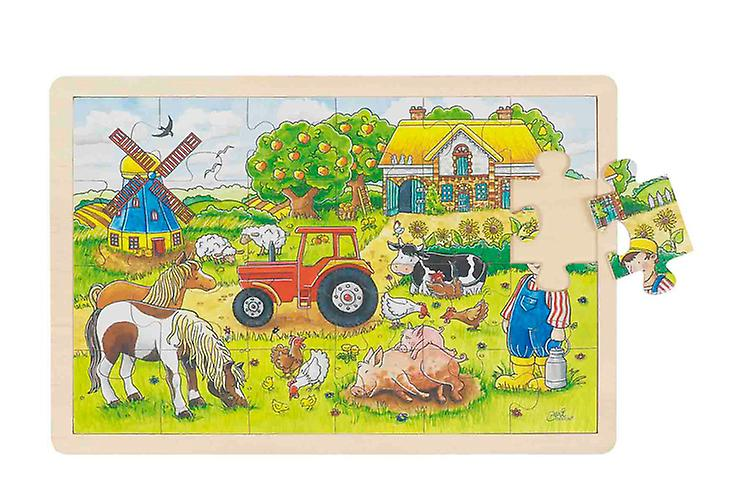 Goki Window Puzzle Farm 24Pcs