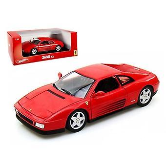 Ferrari 348 TB Red 1/18 Diecast Car Model par Hotwheels