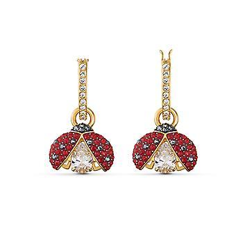 Swarovski örhängen 5537490-örhängen m tal rhodi rosa röd nyckelpiga kvinnor