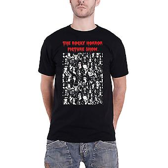 The Rocky Horror Picture Show T Shirt Block Characters new Official Mens Black