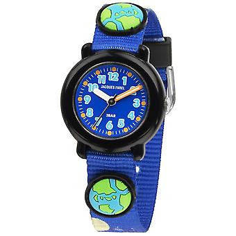 JACQUES FAREL Kids Wristwatch Analog Quartz Textile Ribbon KPA 3344 Space