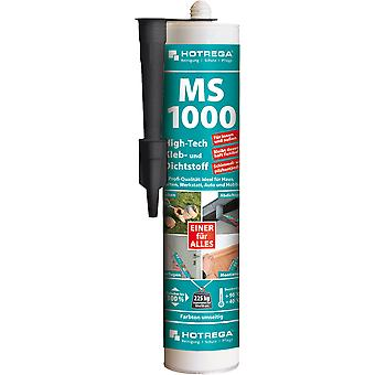 HOTREGA® MS 1000 High-Tech lijm en kit, 290 ml cartridge, zwart