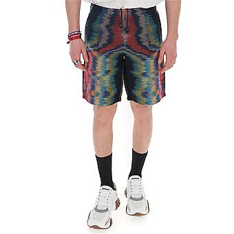 Missoni Mui00065bk00gpfm04x Men's Multicolor Cotton Shorts