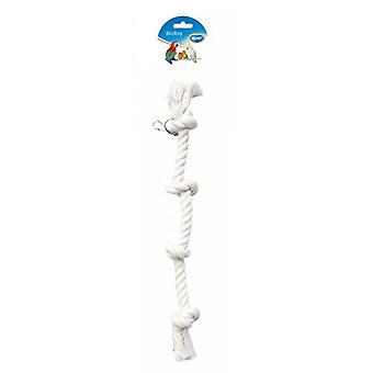 Duvo+ Parrot Toy Rope 4 knots 50 Cm (Birds , Toys)