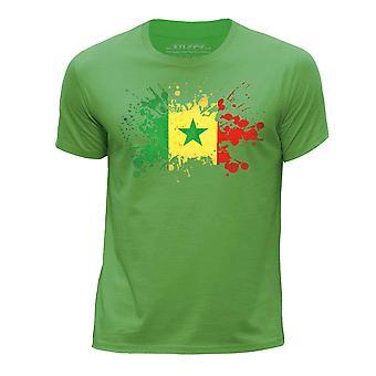 STUFF4 Мальчика шею Т-маечка/Сенегал/сенегальского флаг Splat/зеленый