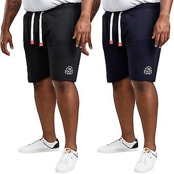 Duke D555 Mens Harvey Big Tall King Size Drawstring Joggers Bottoms Shorts
