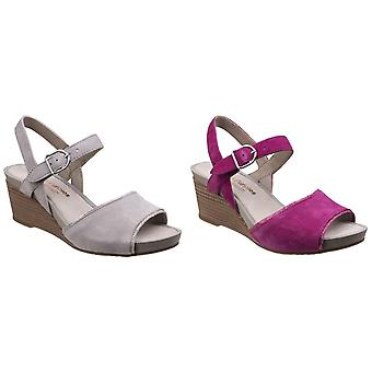 Hush Puppies Womens/Ladies Cassale Buckle Ankle Strap Wedge Leather Sandals