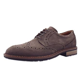 ECCO 640314 Vitrus I - Men's Lace-up Brogue Shoes In Dark Clay