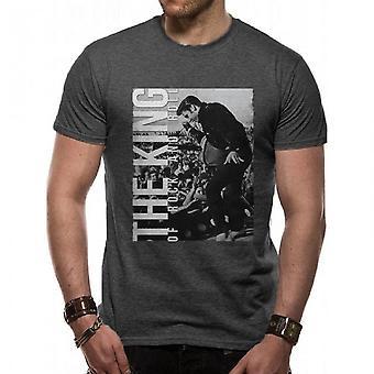 Elvis Presley Unisex Adults T-shirt met King Of Rock N Roll Design