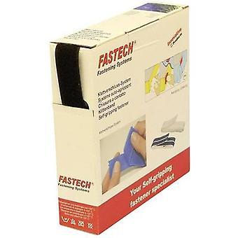 FASTECH® B25-SKL02999910 Krok-och-slinga tejp stick-on (smältlim) Krokdyna (L x W) 10 m x 25 mm Svart 10 m
