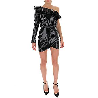 Amen Amw19435009 Frauen's schwarz Kunstleder Kleid