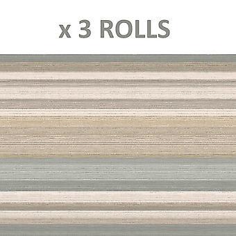 Striped Gold Beige Wallpaper Metallic Shimmer Vinyl Stripes Crown Ruben Stripe