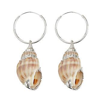 Gemshine Maritim Örhängen Shell 925 Silver Hög kvalitet bearbetas