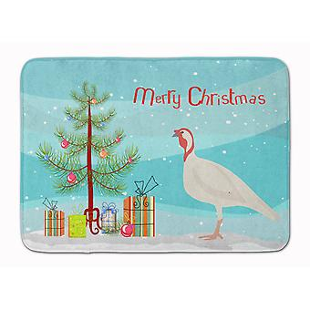 Beltsville Small White Turkey Hen Christmas Machine Washable Memory Foam Mat