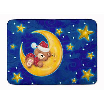 Ours dans la lune et les étoiles Machine tapis de mousse de mémoire lavable