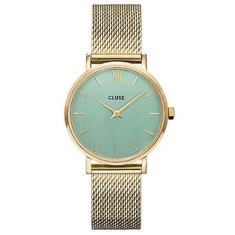 Cluse Watches Cw0101203030 Minuit Stone Green & Gold Mesh Ladies Watch