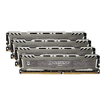 الأهمية باليستيكس الرياضة LT BLS4K4G4D240FSB 2400 ميغاهرتز، DDR4، DRAM، الثابتة الكمبيوتر طقم الألعاب، 16 جيجابايت، 4 GB x4، CL16، رمادي