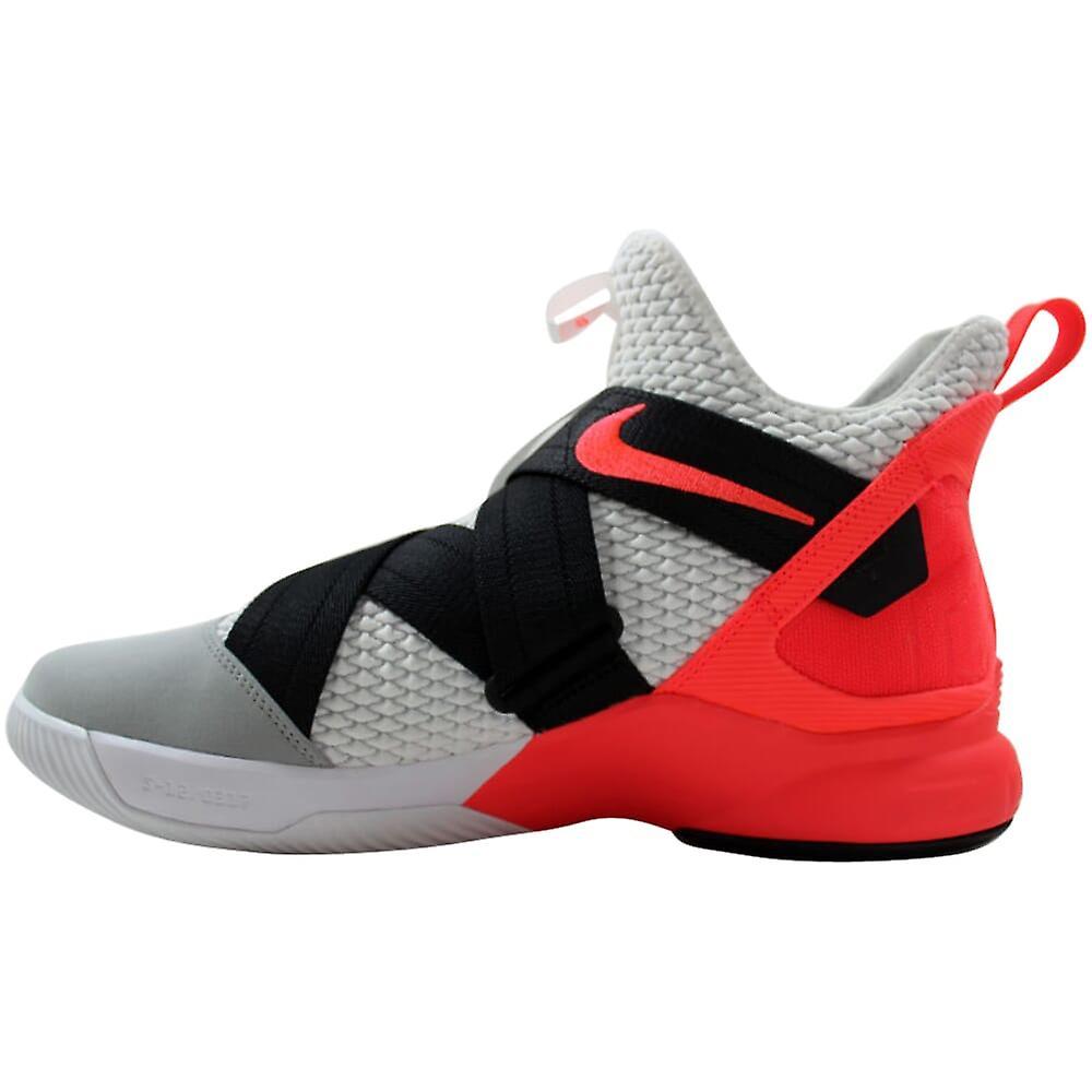 Nike Lebron Soldato XII 12 SFG Bianco/Grigio scuro-Flash Crimson AO4054-102 Uomini's S8bLJV