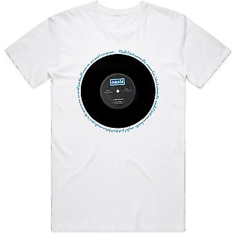 White Oasis Liam Noel Gallagher Live Forever Official Tee T-paita